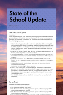 State of the School Update