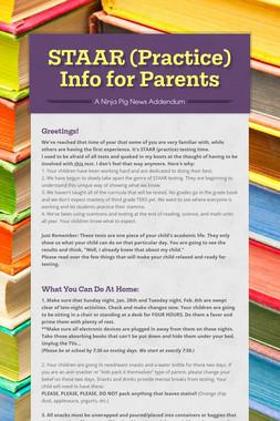 STAAR (Practice) Info for Parents