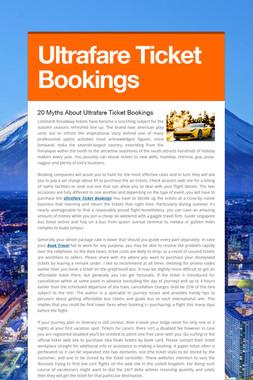 Ultrafare Ticket Bookings