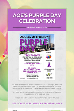 AOE'S PURPLE DAY CELEBRATION