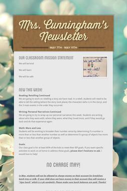 Mrs. Cunningham's Newsletter