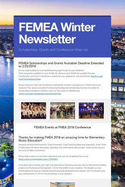 FEMEA Winter Newsletter