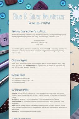 Blue & Silver Newsletter