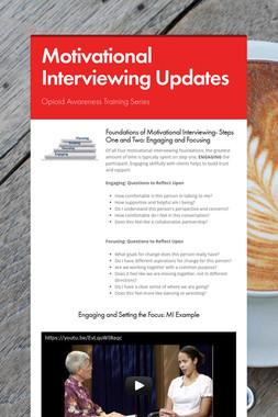 Motivational Interviewing Updates