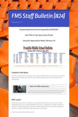 FMS Staff Bulletin (#24)