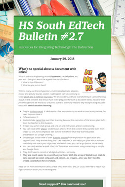 HS South EdTech Bulletin #2.7
