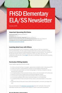 FHSD Elementary ELA/SS Newsletter