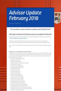 Advisor Update February 2018