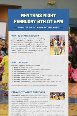 Rhythms Night February 8th at 6PM