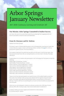 Arbor Springs January Newsletter