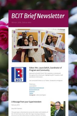 BCIT Brief Newsletter