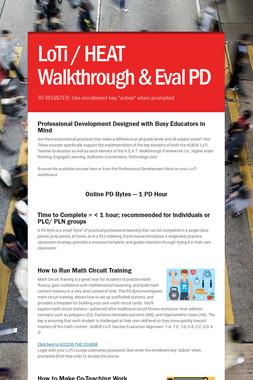 LoTi / HEAT Walkthrough & Eval PD