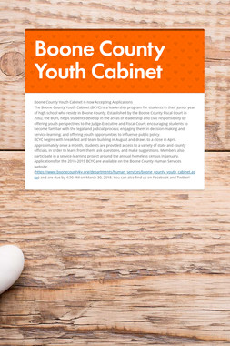 Boone County Youth Cabinet
