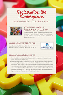Registration De Kindergarten