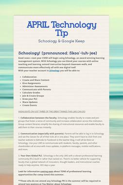 APRIL Technology Tip