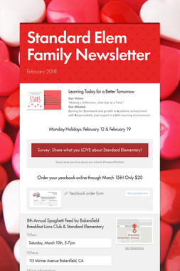 Standard Elem Family Newsletter