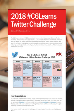 2018 #C6Learns Twitter Challenge