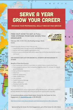 Serve A Year  Grow Your Career