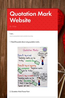 Quotation Mark Website