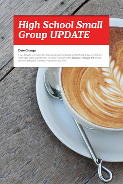 High School Small Group UPDATE