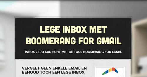 Lege inbox met Boomerang for Gmail