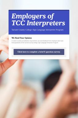 Employers of TCC Interpreters