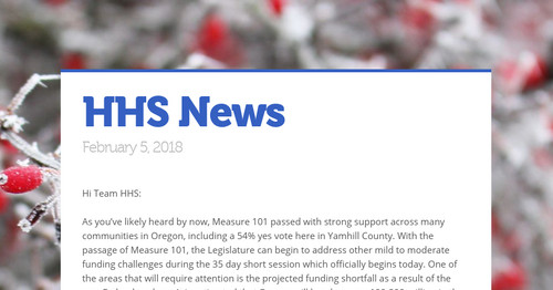 Hhs News Smore Newsletters For Business
