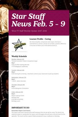 Star Staff News   Feb. 5 - 9