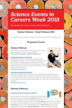 Science Events in Careers Week 2018