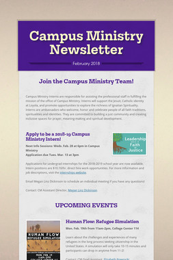 Campus Ministry Newsletter