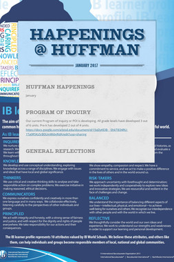 Happenings @ Huffman