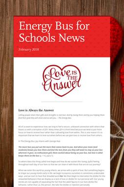 Energy Bus for Schools News