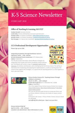 K-5 Science Newsletter