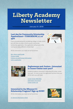 Liberty Academy Newsletter