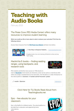 Teaching with Audio Books