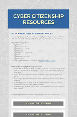 Cyber Citizenship Resources