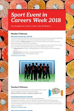 Sport Event in Careers Week 2018