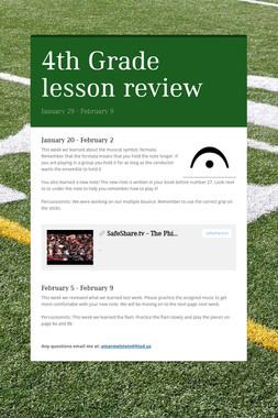 4th Grade lesson review
