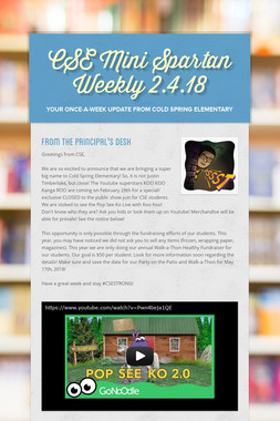 CSE Mini Spartan Weekly 2.4.18
