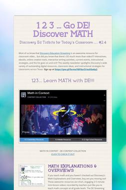 1 2 3 ... Go DE!  Discover MATH