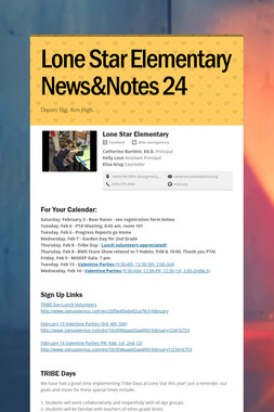 Lone Star Elementary News&Notes 24