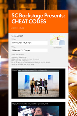 SC Backstage Presents: CHEAT CODES