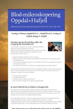 Blod-mikroskopering Oppdal+Hafjell