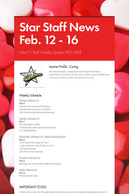 Star Staff News   Feb. 12 - 16