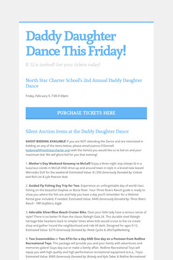 Daddy Daughter Dance This Friday!