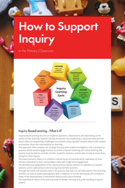 How to Support Inquiry