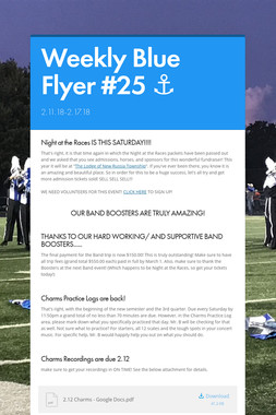 Weekly Blue Flyer #25   ⚓️