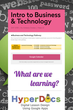 Intro to Business & Technology