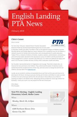 English Landing PTA News