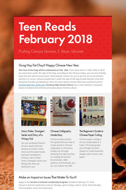 Teen Reads February  2018